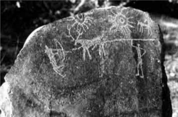 Photograph of the petroglyphs. (Image: IGNCA)