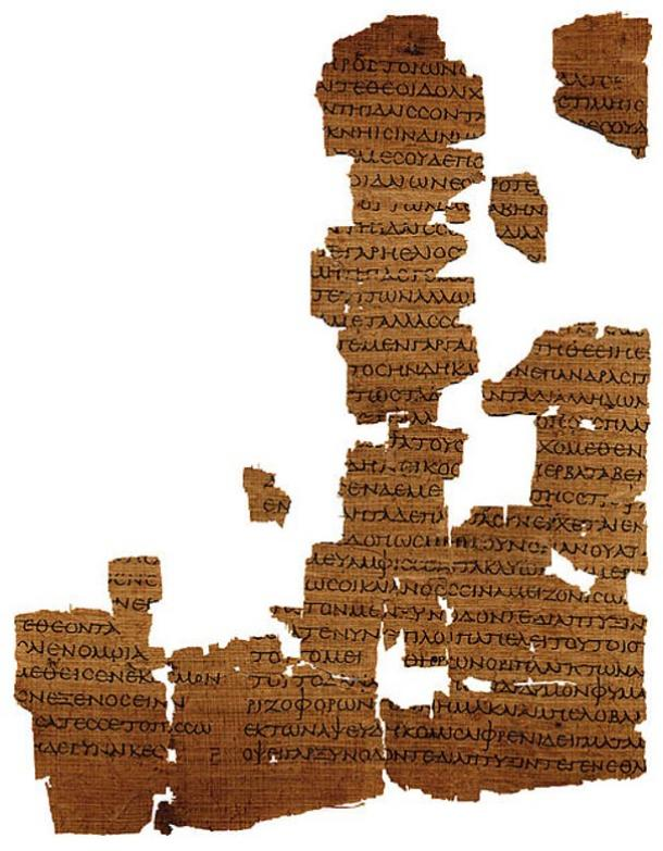 Papyrus of Empedocles' 'Physika' from the late first century AD.