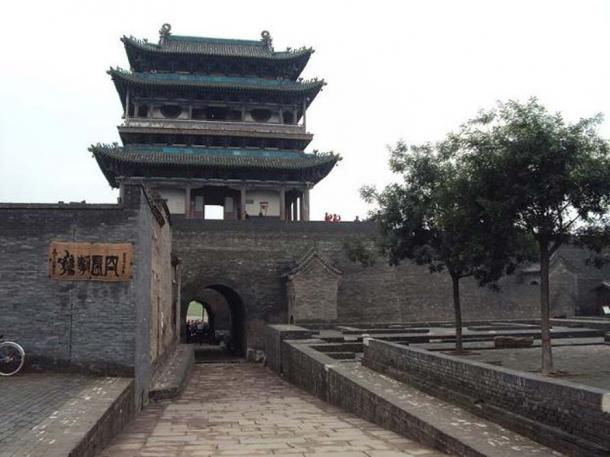 Pingyao ancient city wall south gate.
