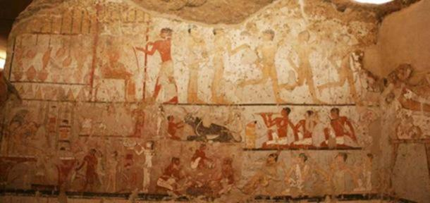 Tomb paintings in the chamber of Hetpet. Egyptian Ministry of Antiquities.