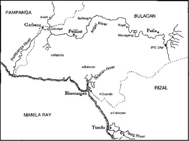 Places mentioned in the Laguna Copperplate Inscription.