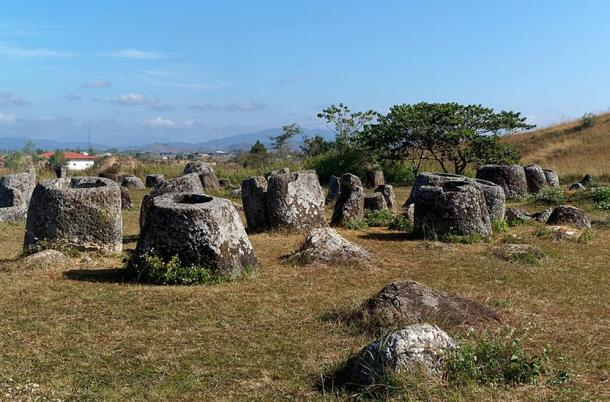 Plain of Jars archaeological site 1. A well-known site