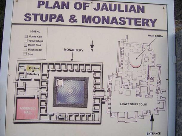 Plan of Jaulian Buddhist Stupa and Monastery