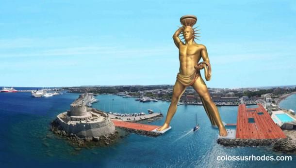 Planned reconstruction of the Colossus of Rhodes on the Island of Rhodes, Greece