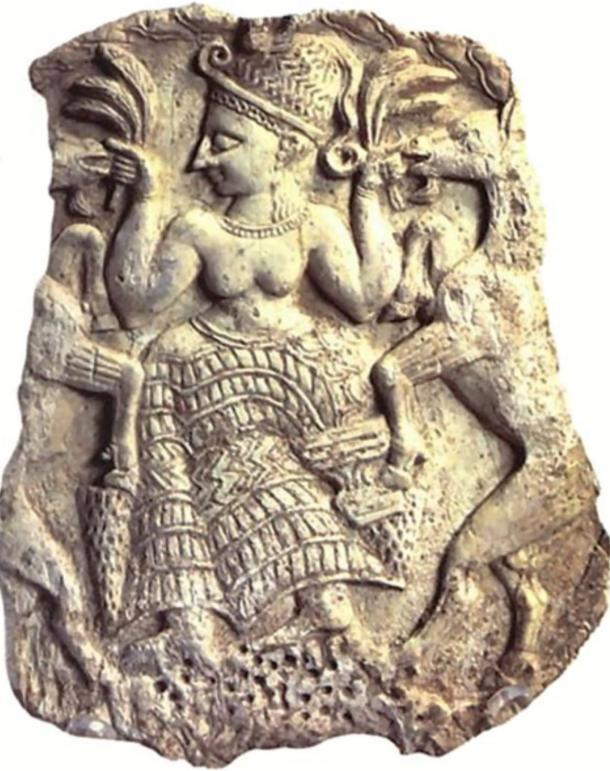 Plaque depicting Asherah