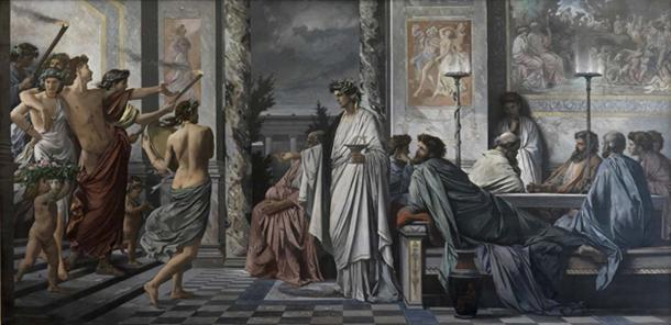 Plato's Symposium, depiction by Anselm Feuerbach.