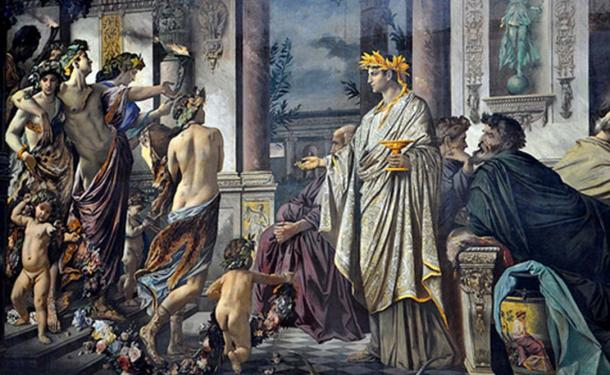 Plato´s Symposium painting by Anselm Feuerbach, 1869.