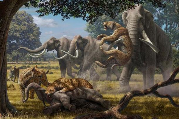 Pleistocene era animals (Image by Mauricio Anton)