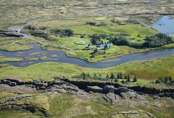 Þingvellir National Park, iceland .