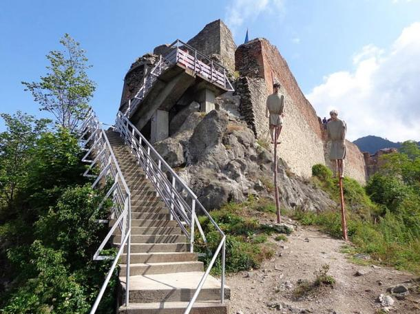 Entrance to Poenari Castle.