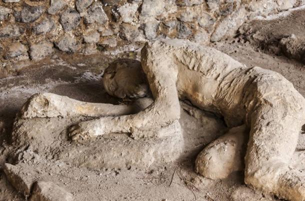 A Pompeii victim frozen in time.