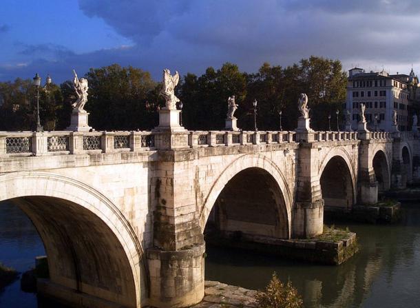 Ponte Sant'Angelo Bridge - Bridge of St. Angelo, Rome.