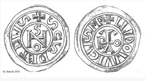 Two coins were found to bear the monogram of Pope Johannes. (Image: Michael Habicht, 2018)