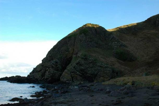 Port Balcreuchan and the cave of Sawney Bean.