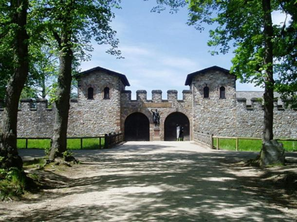 The Porta Praetoria (Main Gate) of the Saalburg Roman fort.