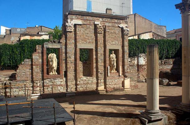 Portal of the Roman forum from Emerita Augusta, now Mérida, Spain.