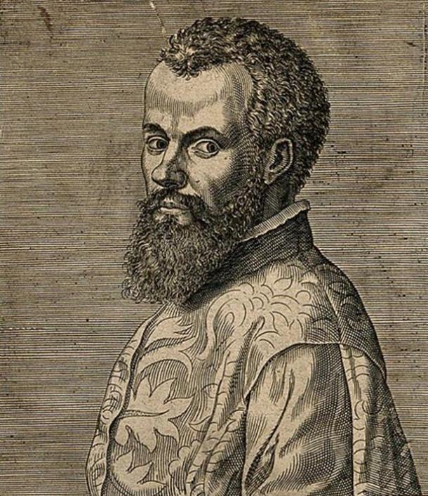 Portrait of Andreas Vesalius.