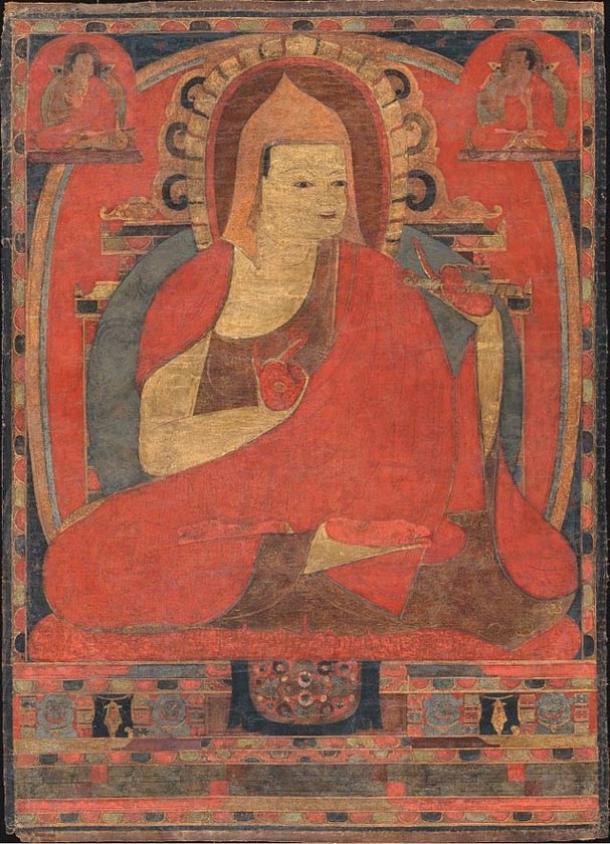 Portrait of Atish Dipankar (Atisha) From a Kadampa monastery,Tibet.