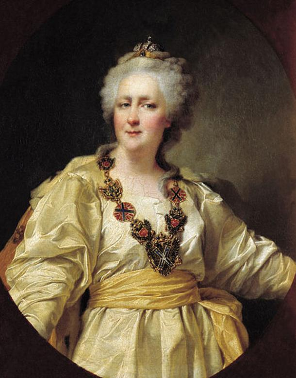 Portrait of Catherine II of Russia by Dmitri Levitzky, 1794.