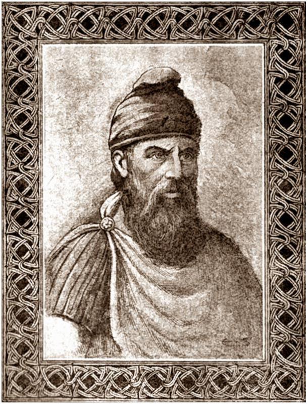 Retrato de Dacian rey Decebal