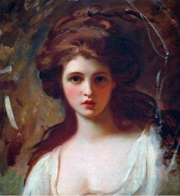 Portrait of Emma Hamilton as Circe, subsequently used to illustrate numerous books.