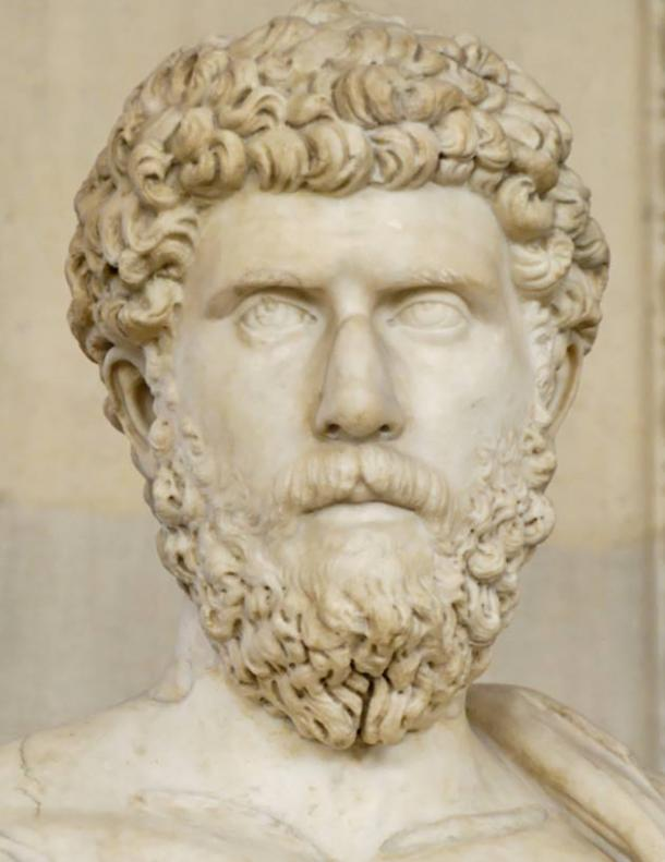 Portrait of Lucius Aelius (101–138 AD) inserted afterwards in a heroic statue