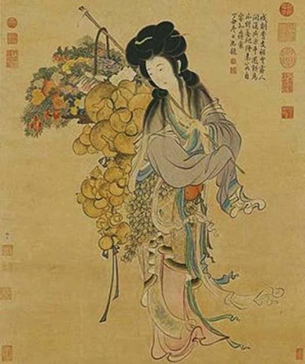 Portrait of Magu - the Immortal Hemp Maiden.