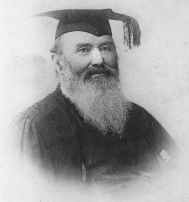 Portrait of Rev. Lorimer Fison, an anthropologist, Methodist minister, and journalist who named the bullroarer.
