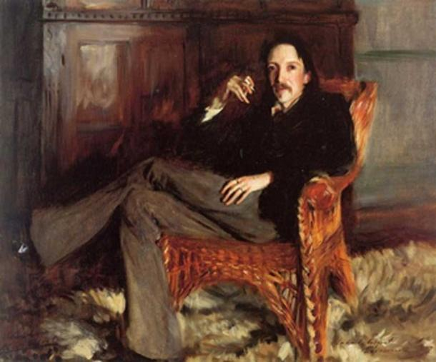 Portrait of Robert Louis Stevenson by John Singer Sargent (1887) (Public Domain)