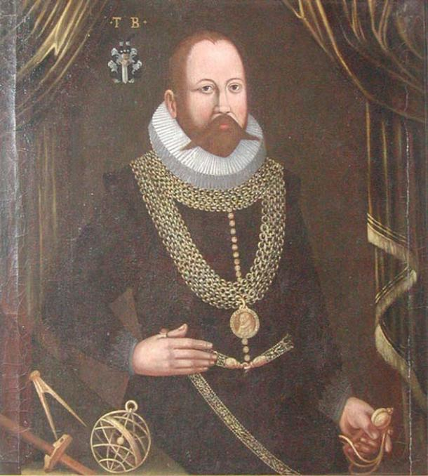 Portrait of Tycho Brahe. (Public Domain) Who would guess his nose is a prothesis?