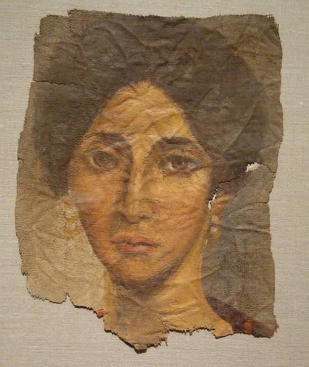 Funerary Portrait of a Woman, about 138-192 AD, Roman Empire, Antonine, encaustic on linen - Cleveland Museum of Art