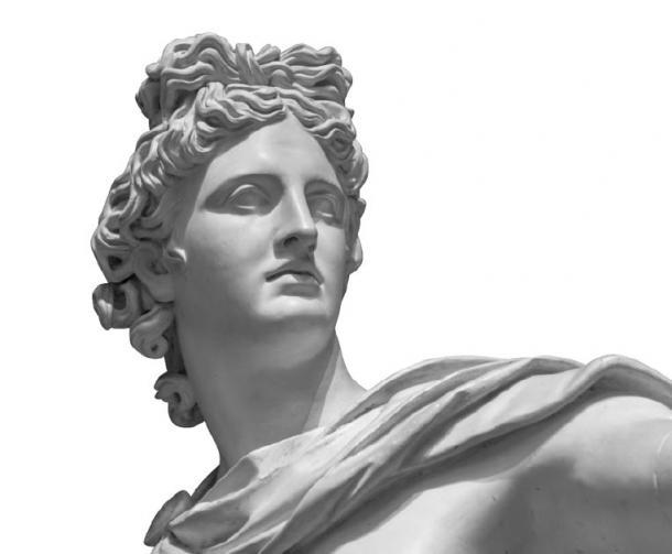 Portrait of a plaster statue of the god Apollo (Ruslan Gilmanshin / Adobe Stock)