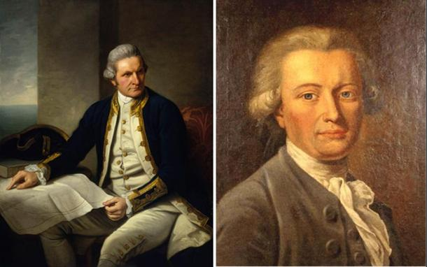 Portraits of Captain James Cook and Johann Georg Adam Forster