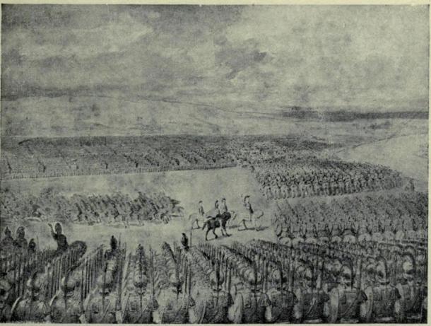 Porus awaits the attack of Alexander on July 326 BC.
