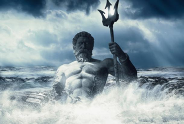 Poseidon - god of the sea. (intrographics / Public Domain)