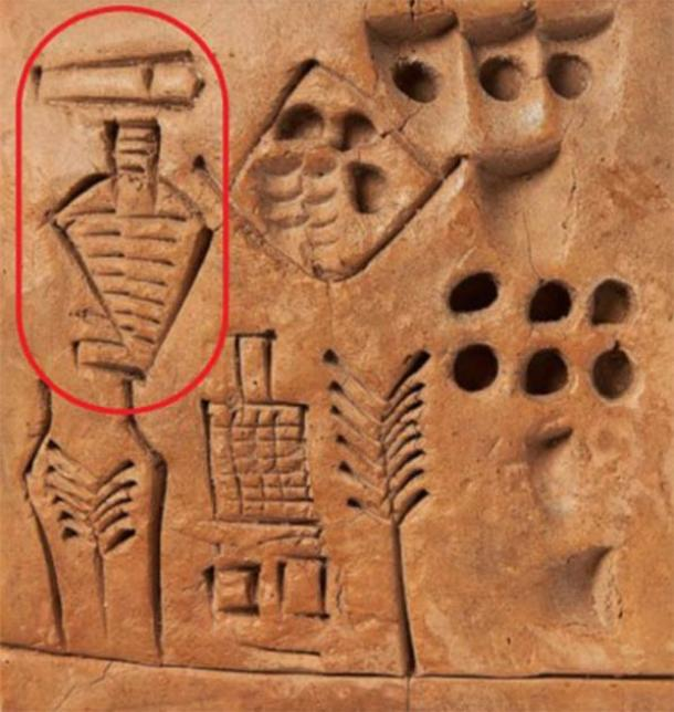 Position of the 'first signature' on signed Sumerian tablet. (Bloomsbury Auctions)