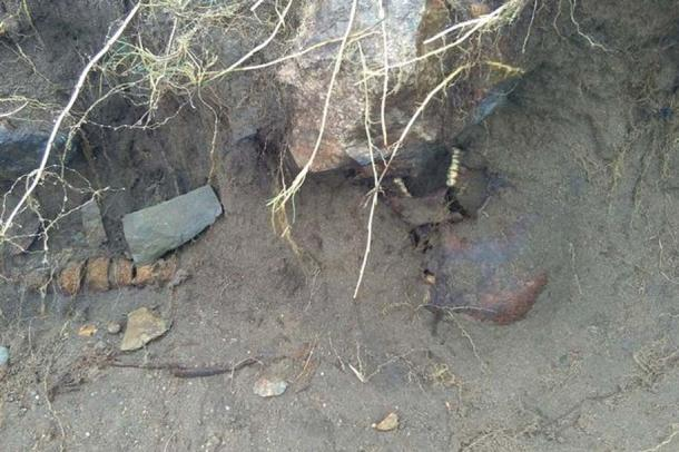 Possibly Iron Age human remains were found following Hurricane Ophelia