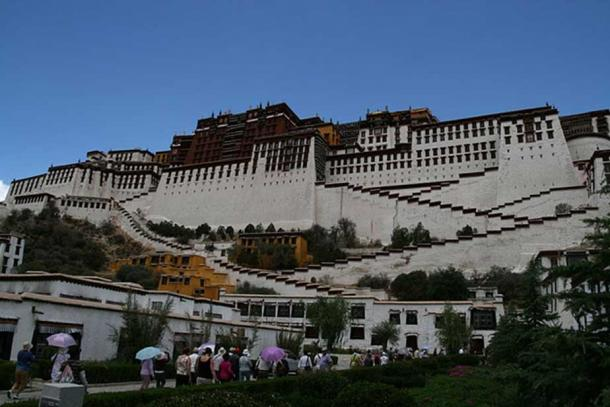 Potala Palace today. A popular UNESCO World Heritage Site