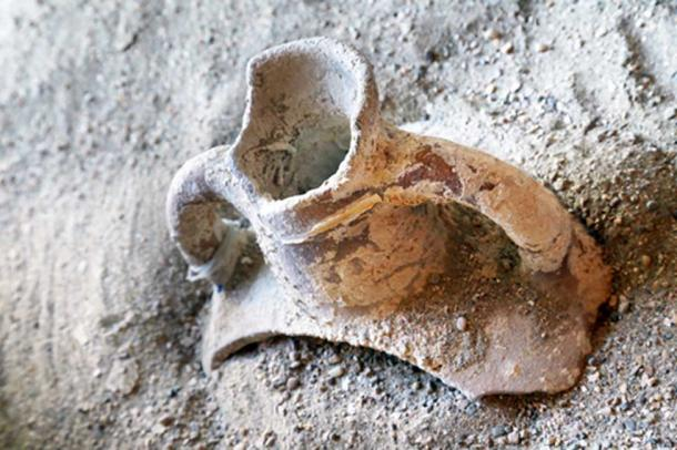 Pottery shards were unearthed at the lost Roman town. (Salvatore / Adobe)