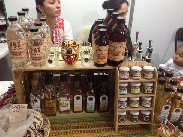 Pox and other traditional Mexican liquors.