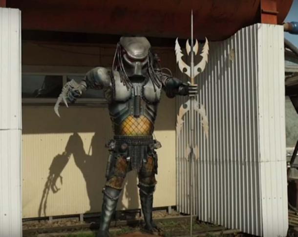 Predator sculpture. (ODN / YouTube Screenshot)