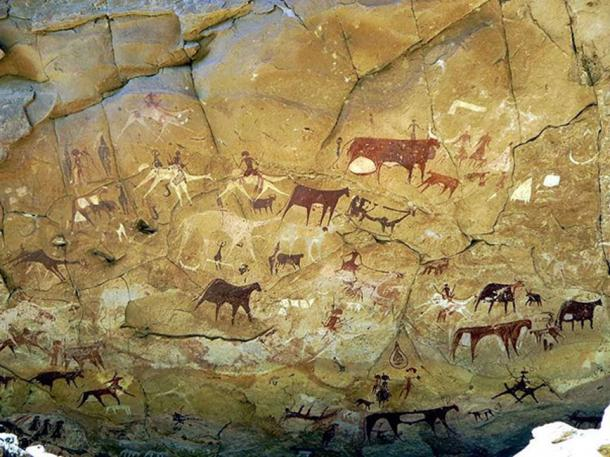 Prehistoric rock art in Manda Guéli Cave, Ennedi Mountains (Stanley, D / CC BY 2.0)