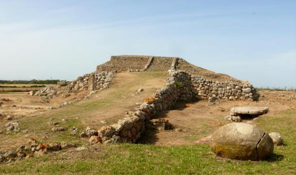 Prehistoric temple of Monte d'Accoddi, believed to be one of the oldest buildings in the world, Sassari, Sardinia