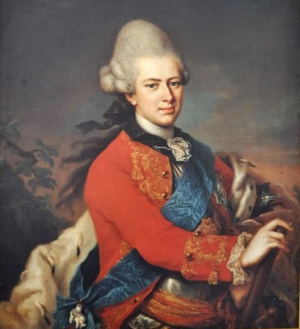 Painting of Prince Karl of Hesse-Cassel, painting by Anton Wilhelm Tischbein (1730-1804).