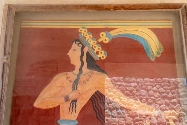 Restored fresco 'Prince of the Lilies'. Credit: Ioannis Syrigos