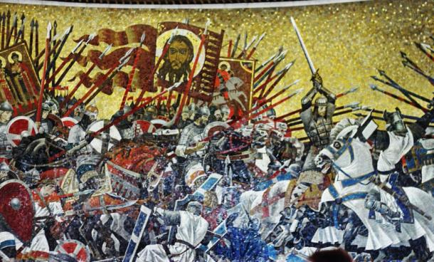 Prince Alexander Nevsky defeats the Teutonic Knights at the Battle of the Ice in 1242. (Messir / CC BY-SA 4.0)