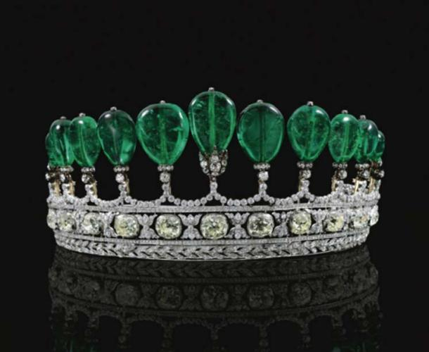 Princess Katherine Henckel Emerald and Diamond Tiara