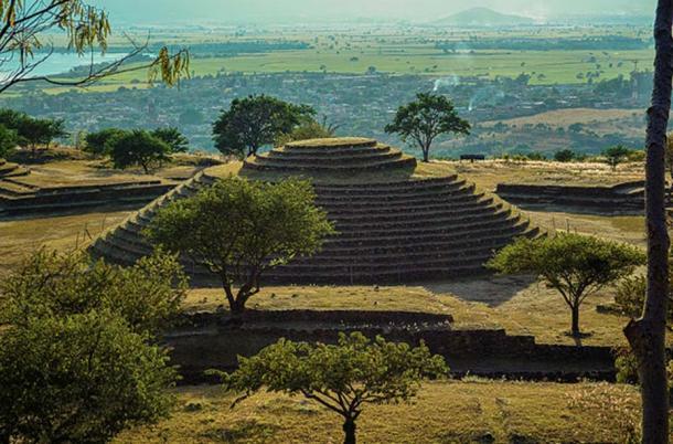 Principle circular pyramid in the Teuchitlan Archaeological Park, Jalisco, Mexico.