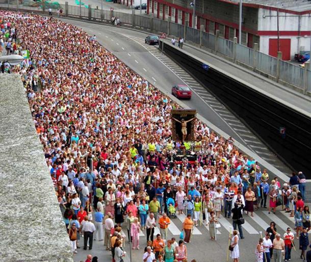 Procession of Cristo de la Victoria, Vigo, Galicia (Spain).