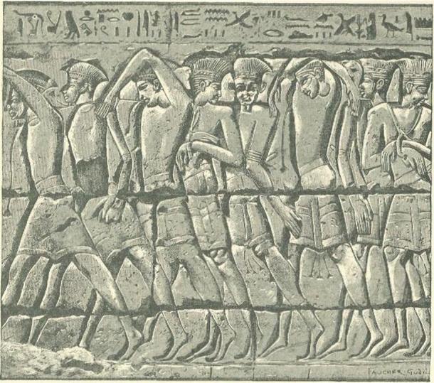 Procession of Philistine Captives At Medinet-habu.